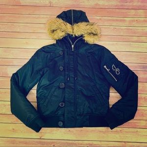 Juicy Couture black puffer jacket size small